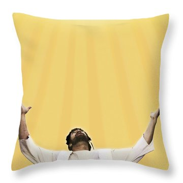 Jesus Cries Out To Heaven Throw Pillow by Kelly Redinger
