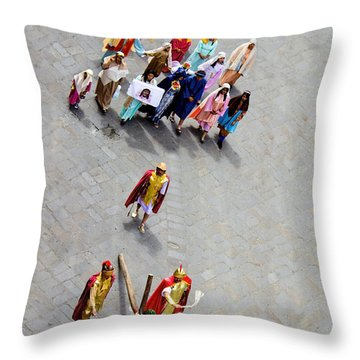 Jesus Died For Us Throw Pillow by Al Bourassa