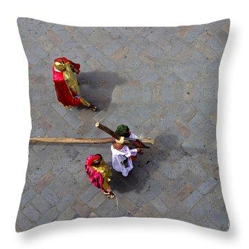Jesus Died For Us II Throw Pillow by Al Bourassa
