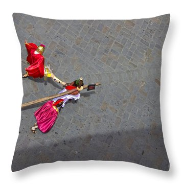 Jesus Died For Us V Throw Pillow by Al Bourassa