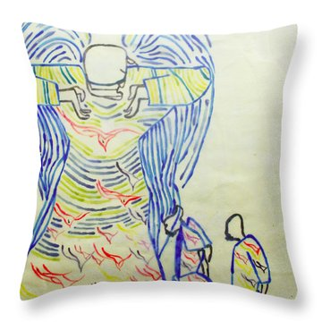 Jesus Guardian Angel Throw Pillow
