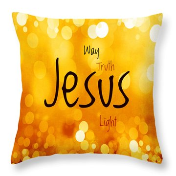 Jesus Light 1 Throw Pillow by Angelina Vick