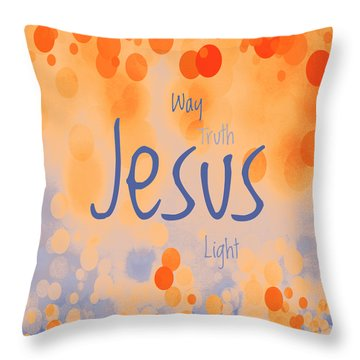 Jesus Light 2 Throw Pillow by Angelina Vick