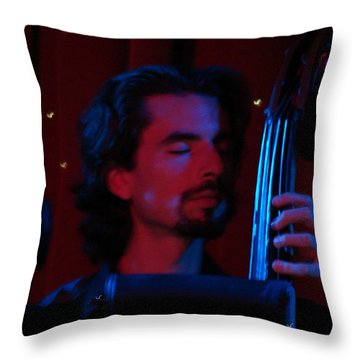 Jesus On The Bass Throw Pillow