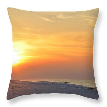Jesus Rising On Easter Morning On Navarre Beach Throw Pillow