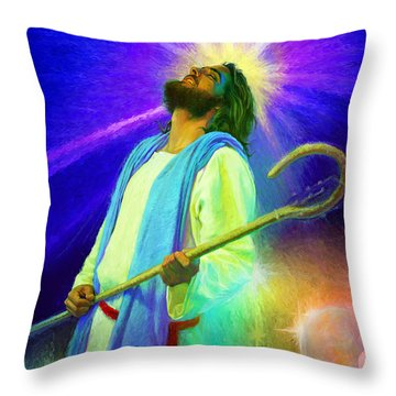 Jesus Rocks Throw Pillow
