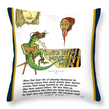 Jesus Switch Off My Minds Movie Throw Pillow