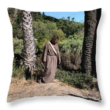 Jesus- Walk With Me Throw Pillow