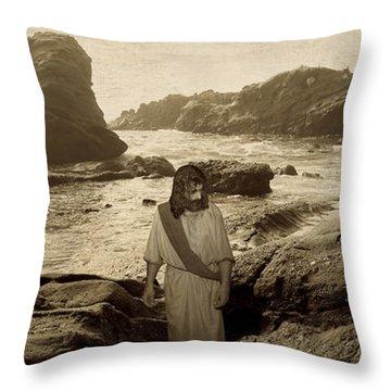 Jesus Walks Among Angels Throw Pillow