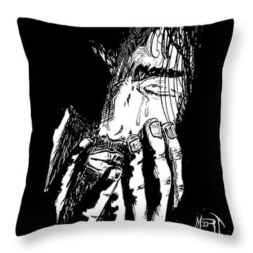 Jesus Wept Throw Pillow by Justin Moore