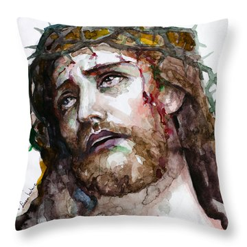 The Suffering God Throw Pillow by Laur Iduc