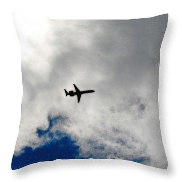 Jet Airplane Throw Pillow