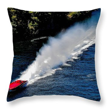 Jet Boat Mania Throw Pillow