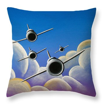 Jet Quartet Throw Pillow