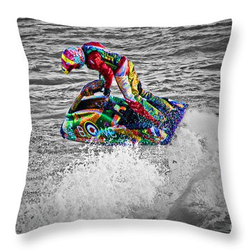 Jet Ski Throw Pillow