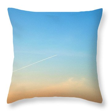 Throw Pillow featuring the photograph Jet To Sky by Marc Philippe Joly