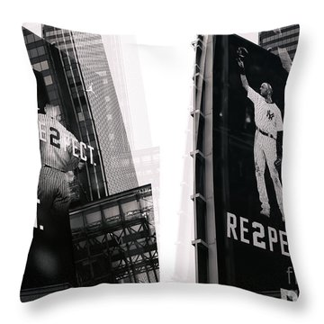Jeter Re2pect Throw Pillow by John Rizzuto