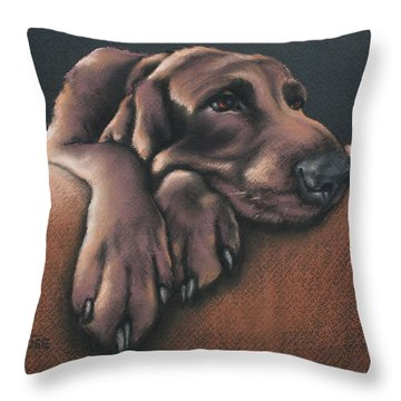 Throw Pillow featuring the pastel Jethro by Cynthia House