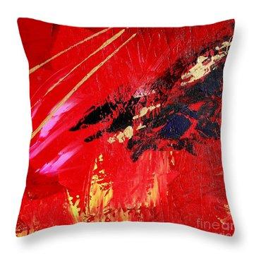 Throw Pillow featuring the painting Jetlag by Susanne Baumann