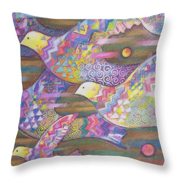 Jetstream Throw Pillow by Sarah Porter