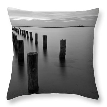 Jetty At Sunset Throw Pillow