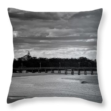 Throw Pillow featuring the photograph Jetty Beach by Wallaroo Images
