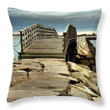 Jetty Bridge Throw Pillow
