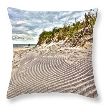 Jetty Four Dune Stripes Throw Pillow