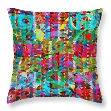 Jewel Stones Sprinkle Abstract  Navinjoshi  Rights Managed Images Graphic Design Is A Strategic Art  Throw Pillow by Navin Joshi