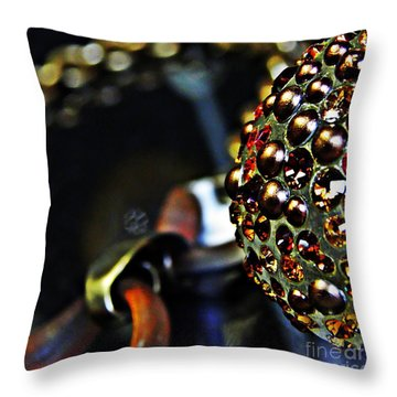 Jeweled Throw Pillow by Sarah Loft