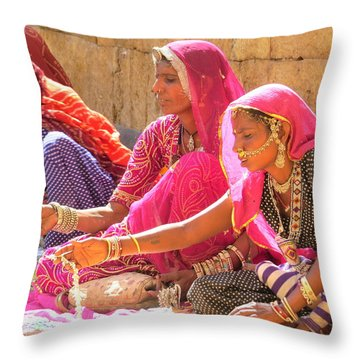 Jewelry Sellers Sell Throw Pillow