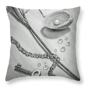 Jewels Of Love Throw Pillow by Irina Sztukowski