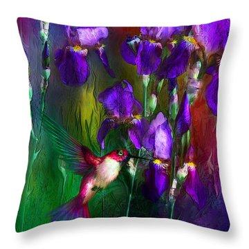 Jewels Of Summer Throw Pillow by Carol Cavalaris