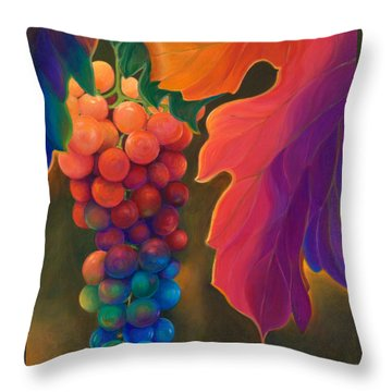 Jewels Of The Vine Throw Pillow