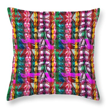 Beads Jewels Strings Fineart By Navinjoshi At Fineartamerica.com Unique Decorations Pod Gifts Source Throw Pillow by Navin Joshi
