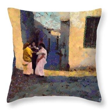 Jewish Women In Tunis Throw Pillow
