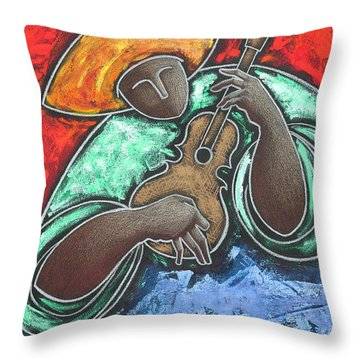 Throw Pillow featuring the painting Jibaro Encendi'o by Oscar Ortiz