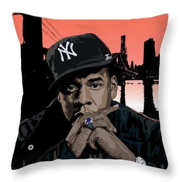 Jigga Throw Pillow by Lawrence Carmichael