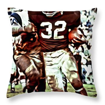 Jim Brown Throw Pillow