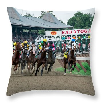Thoroughbred Racing Throw Pillows