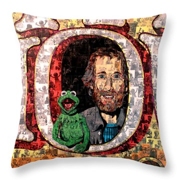 Jim Henson Throw Pillow