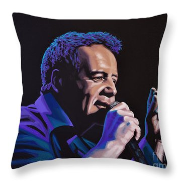Jim Kerr Of The Simple Minds Painting Throw Pillow
