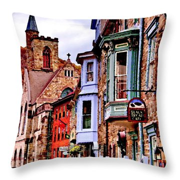 Throw Pillow featuring the photograph Jim Thorpe Pa Stone Row by Jacqueline M Lewis