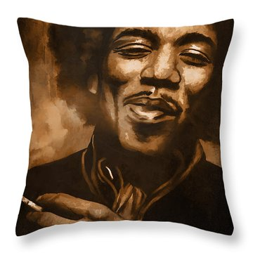 Jimi H. Throw Pillow