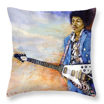 Jimi Hendrix 10 Throw Pillow