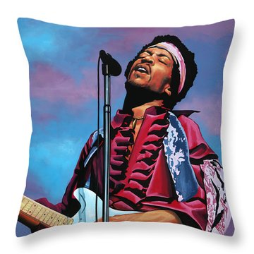 Jimi Hendrix 2 Throw Pillow