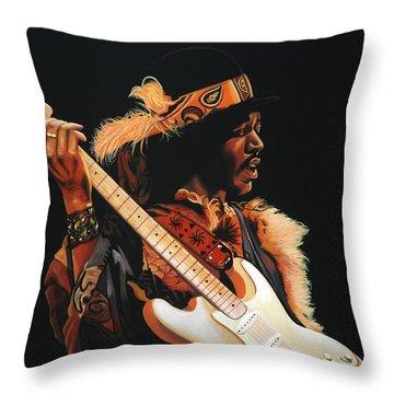 Jimi Hendrix 3 Throw Pillow