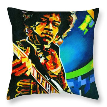 Bold As Love. Jimi Hendrix  Throw Pillow