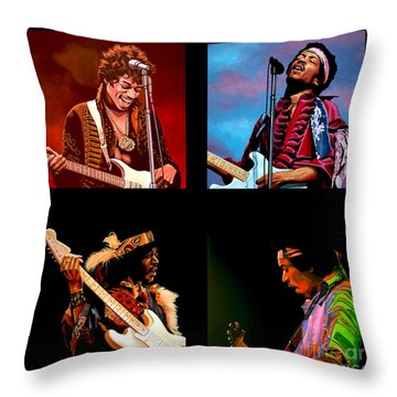 Jimi Hendrix Collection Throw Pillow