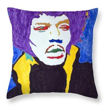 Jimi Hendrix Purple Haze  Throw Pillow